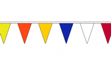 MULTI COLOURED TRIANGULAR BUNTING - 13 METRES 36 FLAGS